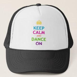 Casquette Gardez le calme et dansez dessus