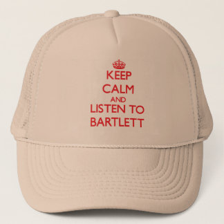 Casquette Gardez le calme et écoutez Bartlett