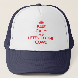 Casquette Gardez le calme et écoutez les vaches