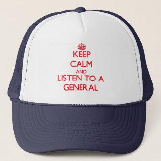 Casquette Gardez le calme et écoutez un général