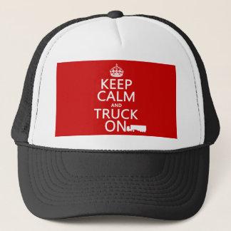 Casquette Gardez le calme et le camion sur (dans toute