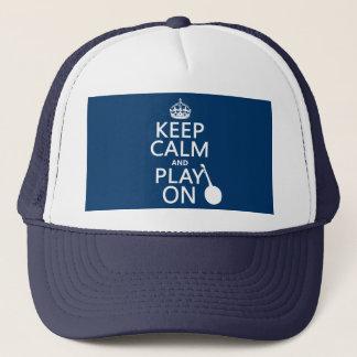Casquette Gardez le calme et le jeu sur (banjo) (toute