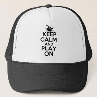 Casquette Gardez le calme et le jeu sur (les tambours)