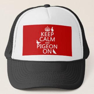 Casquette Gardez le calme et le pigeon dessus - toutes les