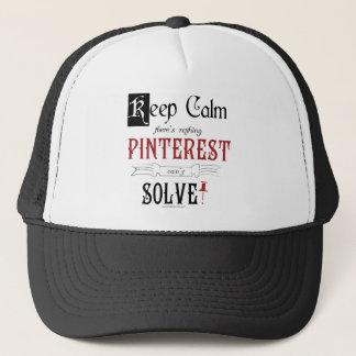 Casquette Gardez le calme, là n'êtes que rien Pinterest ne