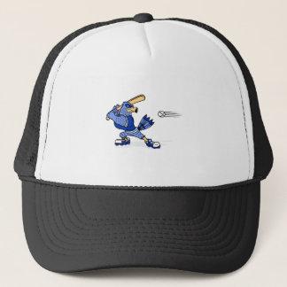 Casquette Geai bleu jouant au base-ball
