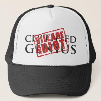 Casquette Génie certifié : tampon en caoutchouc d'idiot de