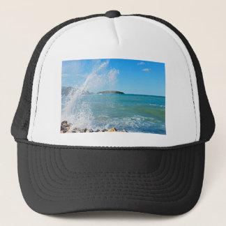 Casquette Grande vague sur la mer bleue