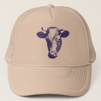 Casquette Graphique pourpre de vache à art de bruit
