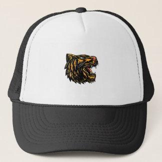 Casquette Gravure sur bois en tigre de grognement