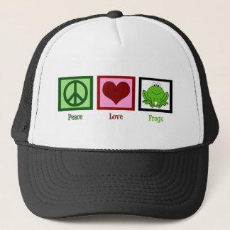 Casquette Grenouilles d'amour de paix