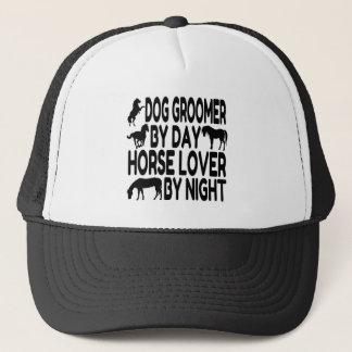 Casquette Groomer de chien d'amant de cheval