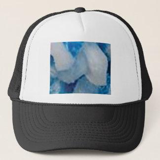 Casquette gros morceaux bleus et blancs