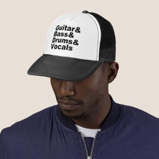 Casquette Guitar&Bass&Drums&Vocals (noir)