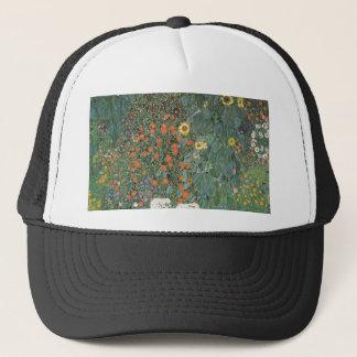 Casquette Gustav Klimt - fleurs de tournesols de jardin de