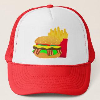 Casquette Hamburger et fritures