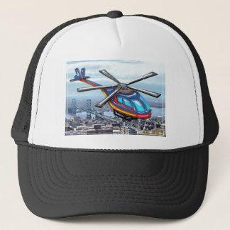 Casquette Haut hélicoptère de vol au-dessus des routes