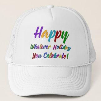 Casquette Heureux coloré quelque vacances vous célébriez !