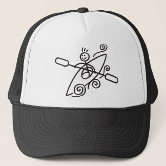 Casquette heureux de kayak