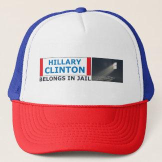 Casquette Hillary Clinton appartient en prison