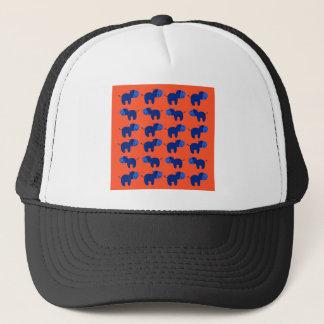 Casquette HIPPOPOTAMES de conception, conception bleue