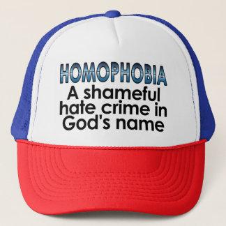 Casquette Homophobie : Un crime de haine honteux dans le nom