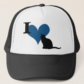 Casquette I chat de chat de coeur