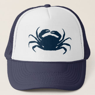 Casquette Illustration bleue simple de crabe de mer de Navi