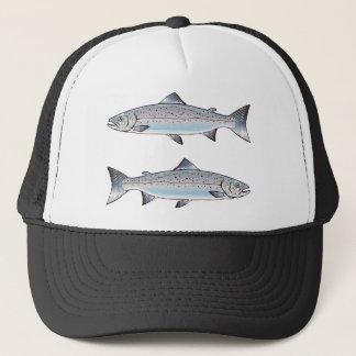 Casquette Illustration de poissons d'océan de saumon