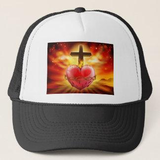 Casquette Illustration sacrée de chrétien de coeur