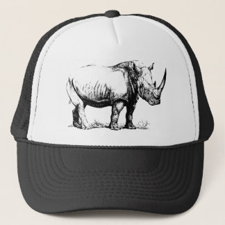 Casquette Illustration vintage de rhinocéros, animal