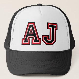 """Casquette Initiales de """"AJ"""" de monogramme"""