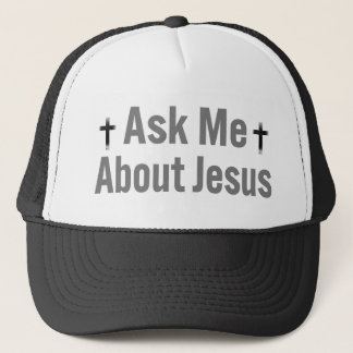 Casquette Interrogez-moi au sujet de Jésus
