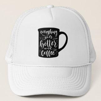 Casquette Intoxiqué drôle Java, citation de café de caféine