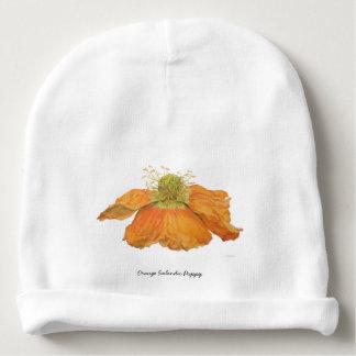 Casquette islandais orange de bébé de pavot bonnet de bébé