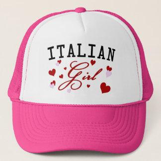 Casquette italien de rose de fille