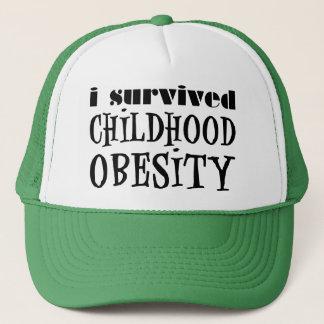 Casquette J'ai survécu à l'obésité d'enfance