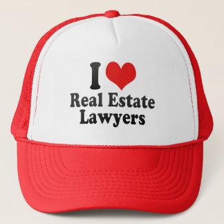 Casquette J'aime des avocats d'immobiliers