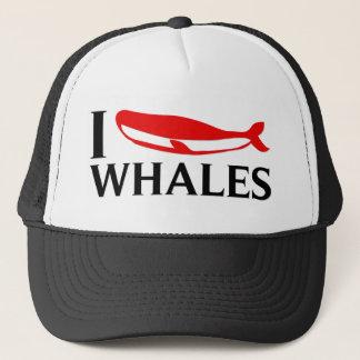 Casquette J'aime des baleines