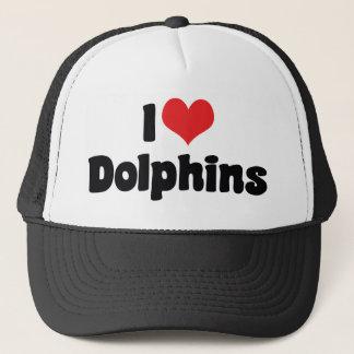 Casquette J'aime des dauphins de coeur - amant de dauphin