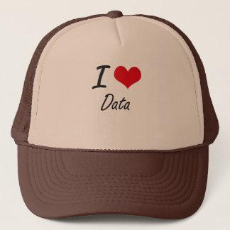Casquette J'aime des données