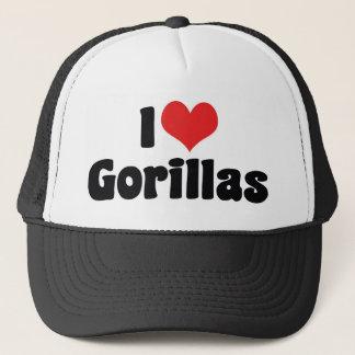 Casquette J'aime des gorilles de coeur - amant de gorille