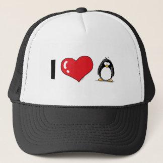 Casquette J'aime des pingouins