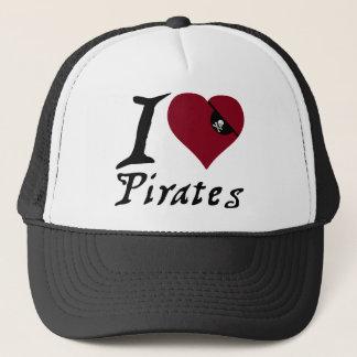Casquette J'aime des pirates (de coeur)