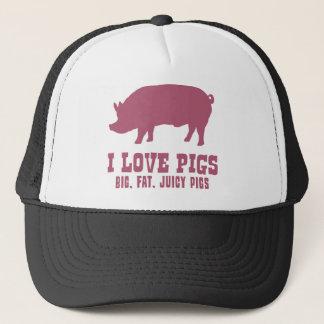 Casquette J'aime des porcs