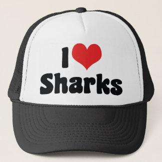 Casquette J'aime des requins de coeur - amant de requin