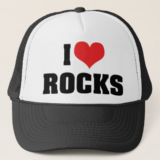 Casquette J'aime des roches - amant de géologue de géologie
