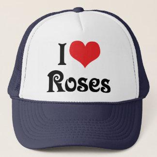 Casquette J'aime des roses de coeur - amant de jardin