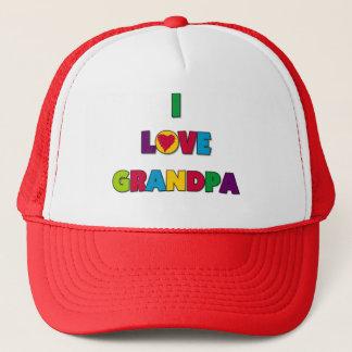 Casquette J'aime des T-shirts et des cadeaux de grand-papa