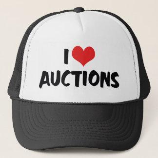Casquette J'aime des ventes aux enchères de coeur